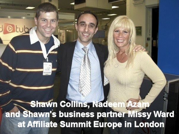 Nadeem and Shawn at Affiliate Summit London conference in 2007