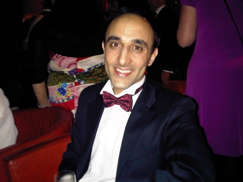 Nadeem celebrates as the Azam Paid Search Marketing team comes Highly Commended in the Best Lead Generation category