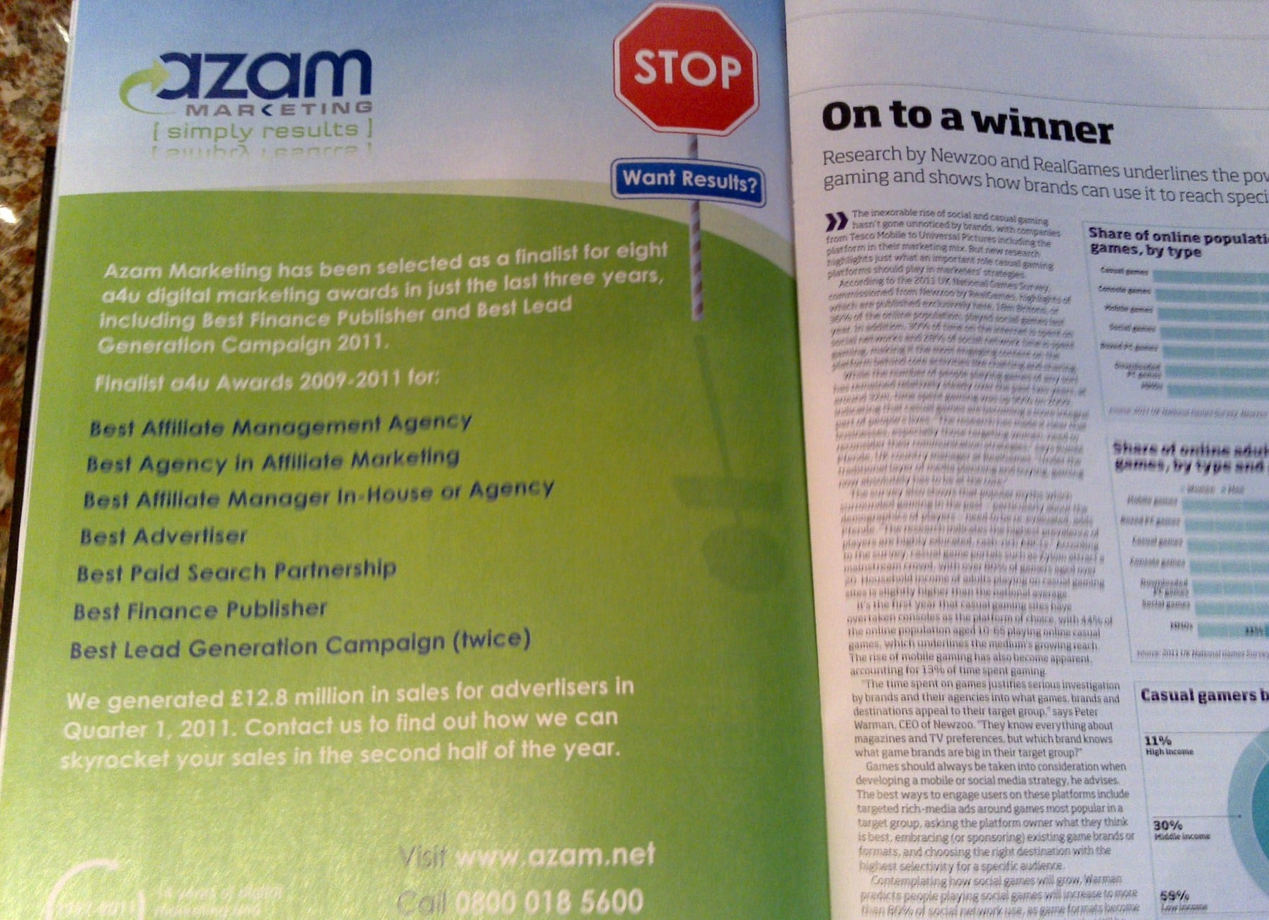 Our advert in this week's NMA (New Media Age) magazine. Click here to see bigger size version