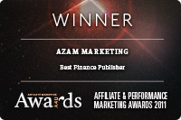 Azam was a winner of the Best Finance Publisher Award and Highly Commended Best Lead Generation Campaign
