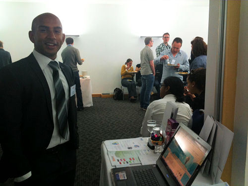 Azam Marketing's Senior eCRM Manager Ryan Ranaweera infront of our stand