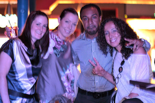 From left to right: Sinead, Saija, Ovie and Yagmur from Azam letting their hair down after a busy few days preparing for the event