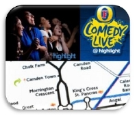 Dozens of guests enjoyed a fun night out at the Camden Highlight comedy club with Azam Marketing