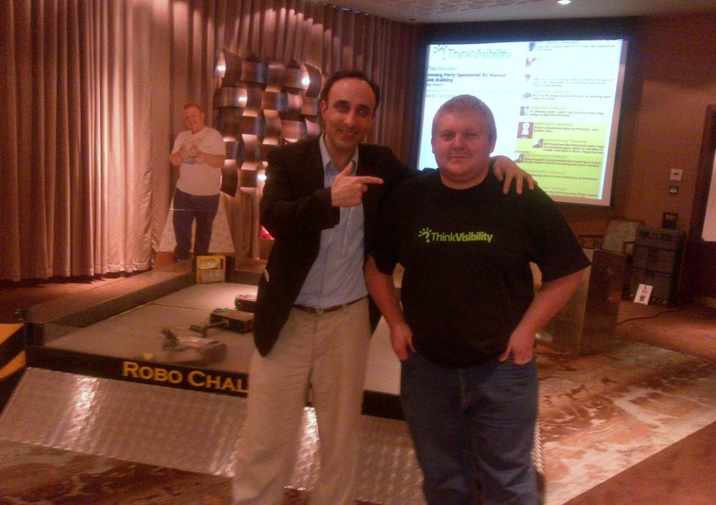 Nadeem Azam with Think Visibility's legendary organiser Dom Hodgson. Click here to see more pictures from Azam of the event