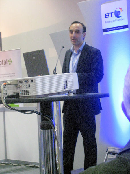 Nadeem Azam giving a presentation about email marketing and eCRM at PerformanceIN Live which took place at the Excel Centre in London