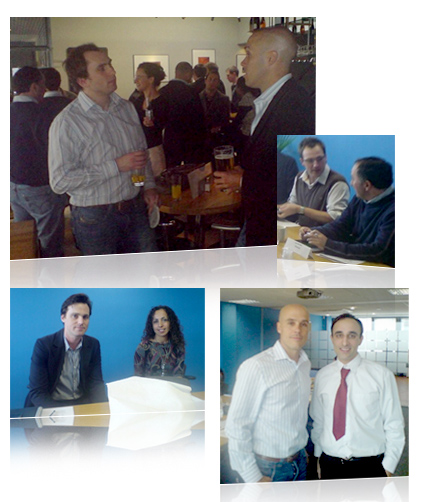 Pictures from the afternoon: attendees at Valueclick boardroom and nearby pub